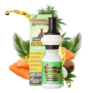 Pinnacle Hemp - CBD Pet Tincture - Salmon Tincture - 120mg-480mg - The Green Guys
