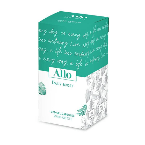 ALLO CBD - CBD Soft Gel - Daily Boost Capsule - 25mg - The Green Guys