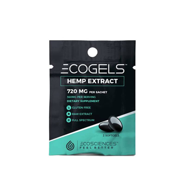 Eco Sciences - CBD Soft Gel - ECOGELS Travel Size 2 Count - 25mg - The Green Guys - Largest CBD Marketplace