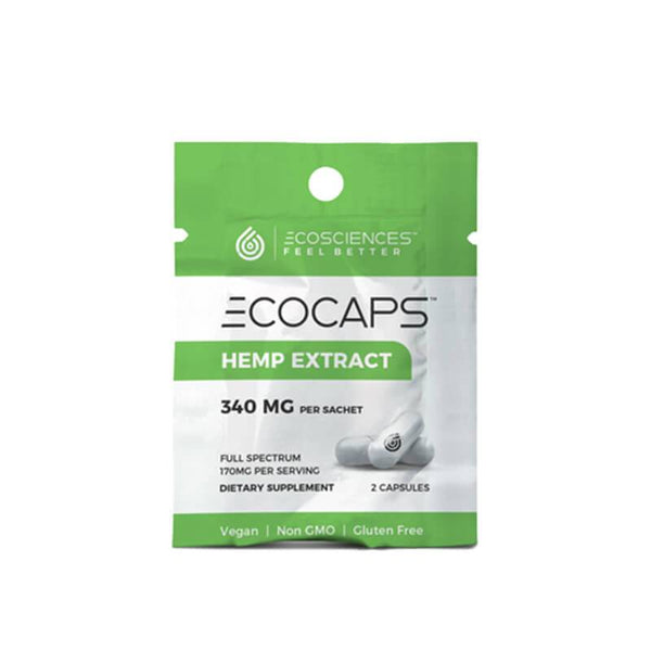 Eco Sciences - CBD Capsule - ECOCAPS Travel Size 2 Count - 30mg - The Green Guys - Largest CBD Marketplace