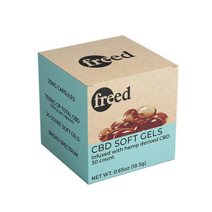 Freed - CBD Soft Gel Caps - 25mg - The Green Guys - Largest CBD Marketplace