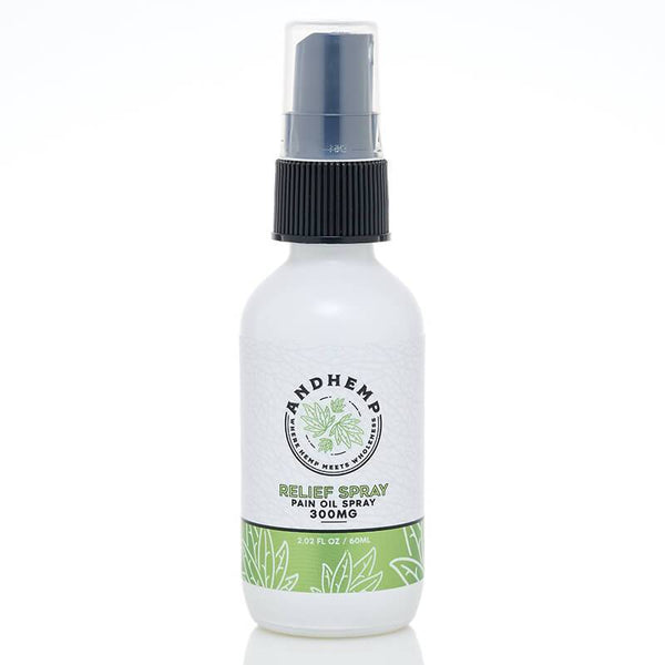 AndHemp - CBD Oil Pain Spray - Relief - 300mg-500mg - Зелените момчета