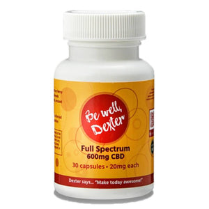 Be Well Dexter - CBD Softgels - Full Spectrum - 600mg - The Green Guys - Largest CBD Marketplace