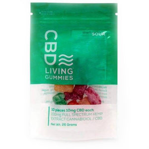 CBD Living - CBD Edible - Sour Living Gummies 10 Count - 100mg - The Green Guys - Largest CBD Marketplace