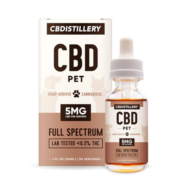 CBDistillery - CBD Pet Tincture - Full Spectrum - 150mg - The Green Guys