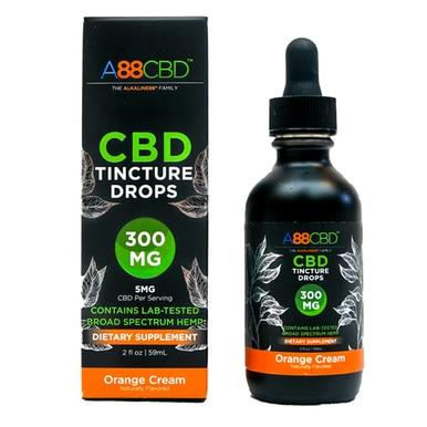 A88 CBD - CBD Tincture - Broad Spectrum Orange Cream - 300mg - The Green Guys - Largest CBD Marketplace
