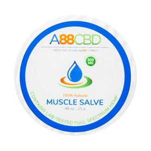 A88 CBD - CBD Topical - Full Spectrum Muscle Salve - 500mg - The Green Guys - Largest CBD Marketplace