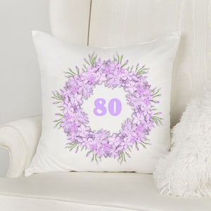 80th Birthday Pillow