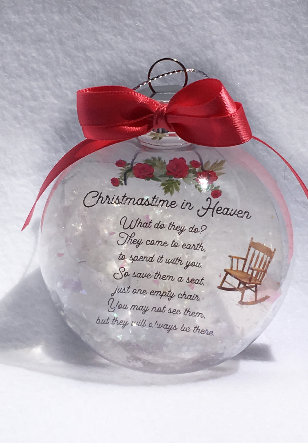 Christmas In Heaven Memorial Ornament