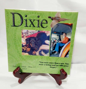 Pet Memorial Plaque, Dog Memorial, Cat Memorial, Pet Loss, Gift for Her, Gift for him, Gift for Dog Lover