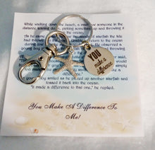 Load image into Gallery viewer, Make a difference thank you gift-teacher gift coach gift gift for teacher keychain