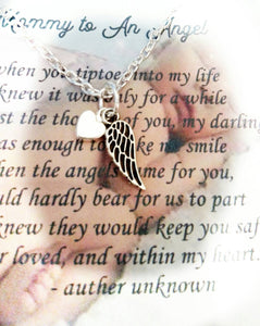 Infant loss miscarriage necklace child loss memorial
