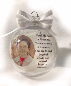 Personalized Christmas memorial ornament Christmas decorations Unique Gifts Personalized gifts
