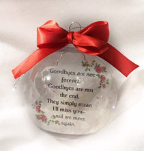 Load image into Gallery viewer, Personalized Christmas Memorial Ornament