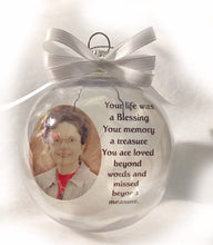 Load image into Gallery viewer, Personalized Christmas memorial ornament Christmas decorations Unique Gifts Personalized gifts