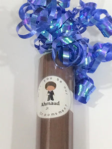 "African American Ring Bearer Gift  Junior Groomsman candy ""cigars"" Ring Bearer Junior Groomsman Ring bearer Gift"