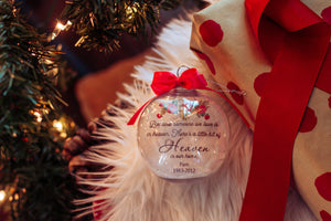 Because Someone We Love Is In Heaven Christmas Ornament | Heaven In Our Home Memorial Ornament | Memorial Gift