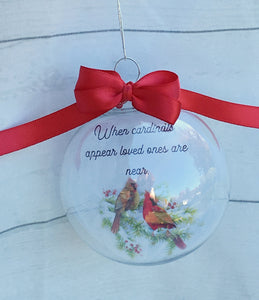 Christmas Memorial Ornament When Cardinals Appear Loved Ones Are Near