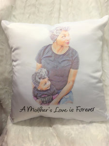 African American Mom Throw Pillow, Christmas Gift, Gift for Mom, Gift for Her