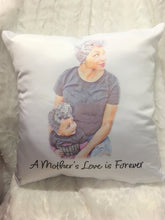Load image into Gallery viewer, African American Mom Throw Pillow, Christmas Gift, Gift for Mom, Gift for Her