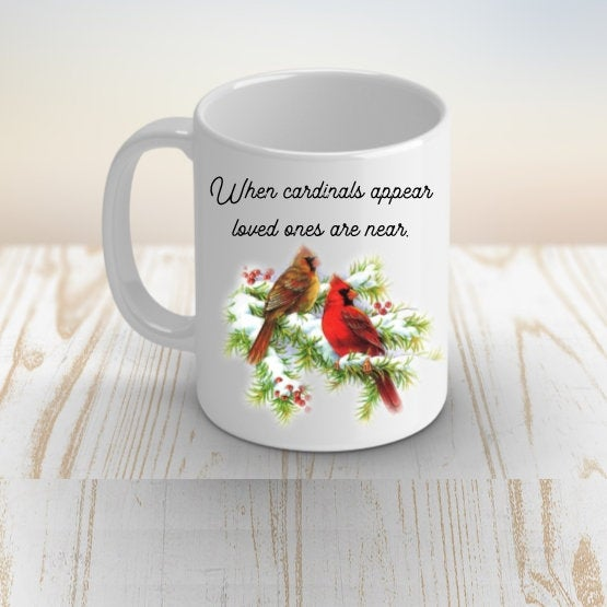 Memorial Gift for Loss of Mother, When Cardinals Appear, Sympathy Gift, Friend Gift