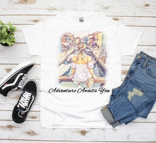Load image into Gallery viewer, Adventure Awaits Graphic Tee, Graduation Gift, Best Friend Gift, Girlfriend Gift