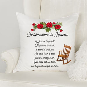 Christmas in Heaven Memorial Pillow, Christmas, Sympathy gift loss of Mother