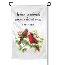 Load image into Gallery viewer, Cardinal Memorial Garden Flag, Bereavement, Sympathy Gift for loss of Father