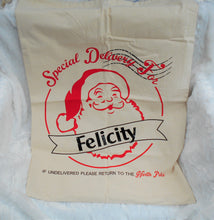 Load image into Gallery viewer, Christmas Bag, Personalized, Santa Sack, Santa Bag, Canvas Bag, Stocking, Extra Large