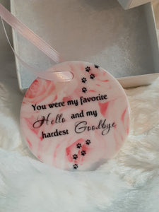 Pet Memorial Gift, Ornament, Memorial, Dog Loss Gift, Gift for Girlfriend