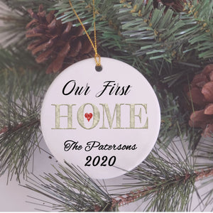 First Christmas In New Home Ornament, Christmas Gift for Couple