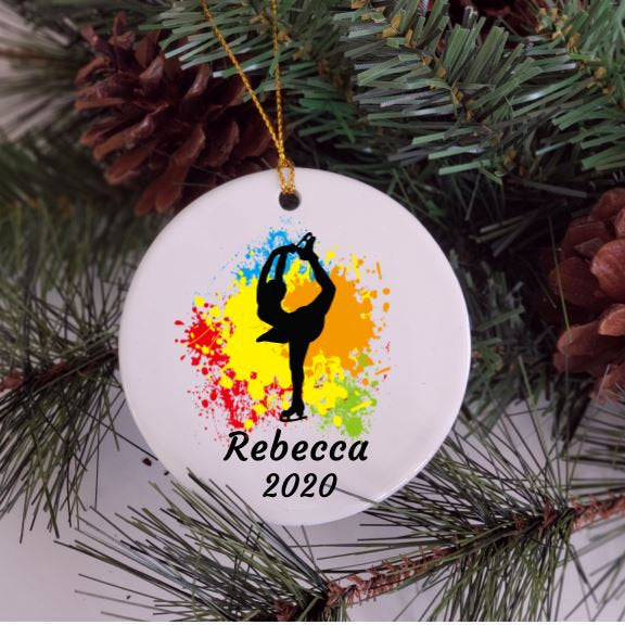 Figure Skater Ornament, Ice Skating, Personalized, Ice Skate Ornament, Christmas, Gift for Granddaughter
