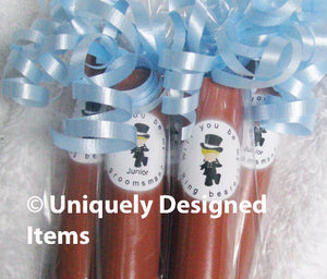Personalized Ring Bearer and Jr Groomsman Gifts Candy Cigar