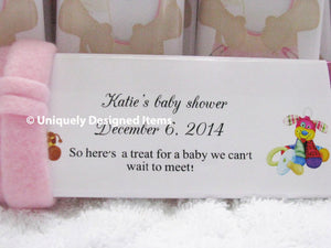 Pink Girl Baby Shower Favors