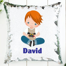 Load image into Gallery viewer, Video Gamer Personalized Sequin Pillow