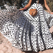 Polka Dots and Layers Maxi Skirt