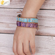 Rectangle Stone Weave Bracelets