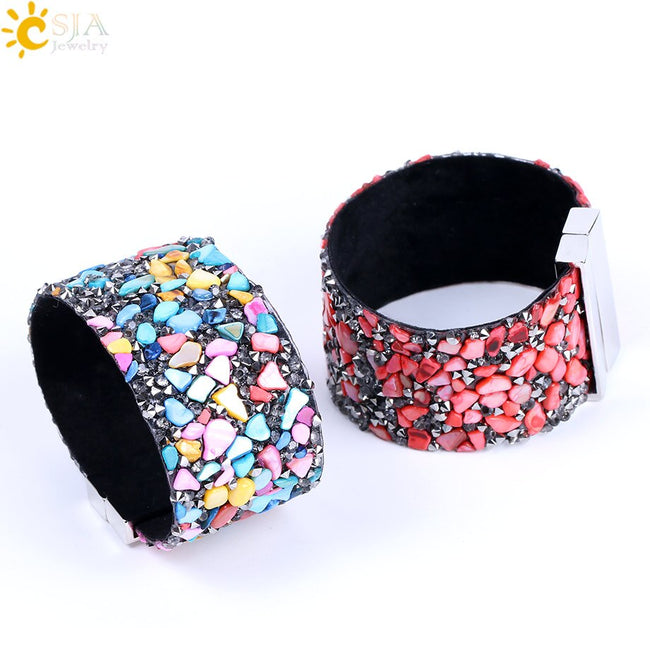 Magnetic Gravel Stone Cuff