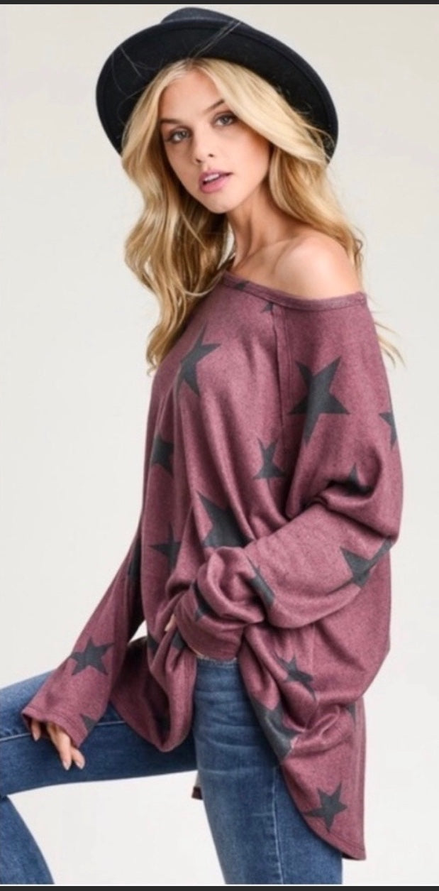 Oversized Star Top