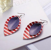 American Flag Teardrop Dangle Earrings