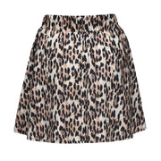 Leopard Pleated Skirt