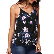 Floral Print Cami with Zipper Detail