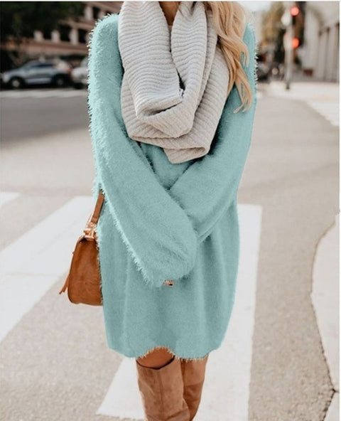 Mohair Knitted Sweater Dress