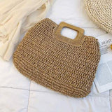 Straw Rattan Woven Large Tote