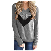 Fashion Bling Sequined V-Neck Tunic