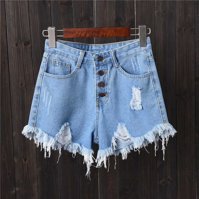 The Sun is Calling Denim Shorts