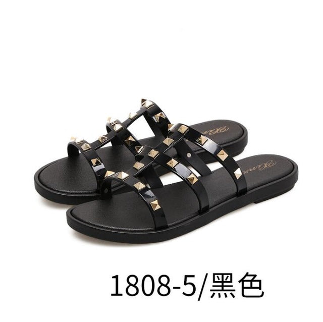 Studded Luxury Slides