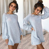 Knitted Lantern Sleeve Dress
