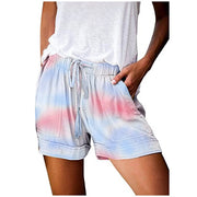 Tie-dye Shorts Comfy Drawstring Shorts