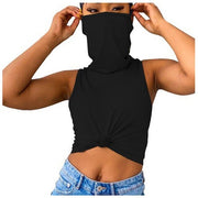 Sleeveless Tank Top With Mask Shirt